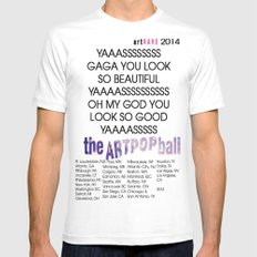 artRAVE 2014 Mens Fitted Tee SMALL White