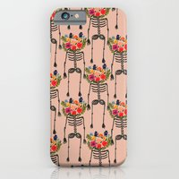 Skeleton And Flowers. iPhone 6 Slim Case
