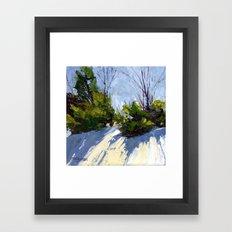 Shadows in the Snow Framed Art Print