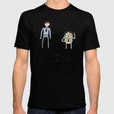 Office Time Mens Fitted Tee Black SMALL