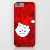 iPhone Cases featuring Funny Head clenching teeth by Wendy Townrow