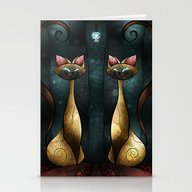 Siamese Tease Stationery Cards