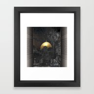 Framed Art Print featuring Dome Of The Rock by Dominiquelandau