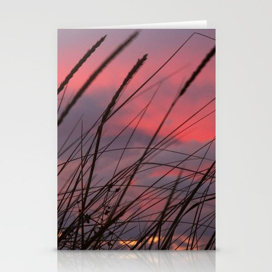 Sunset through the Reeds Stationery Card