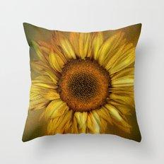 Sunflower - Vintage Throw Pillow