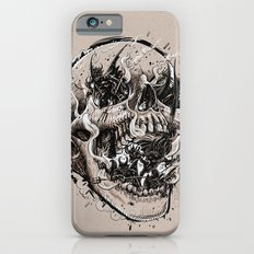 skull with demons struggling to escape iPhone 6s Slim Case