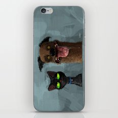 Cat is not impressed iPhone & iPod Skin