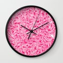 Knee-Deep in Pink Ink Wall Clock