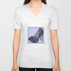 Blue sweet shoe -or....? Unisex V-Neck