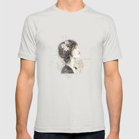 Bratislava (4) Mens Fitted Tee Silver SMALL