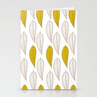 Golden Feather Stationery Cards