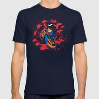 Help Fight Heroism Mens Fitted Tee Navy SMALL