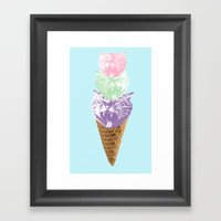 Kitty Kones RELOADED Framed Art Print