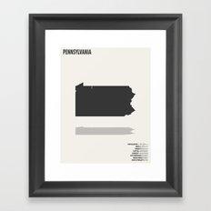 Pennsylvania Map Framed Art Print