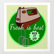 Foodie Mix it up Art Print