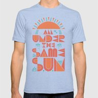 All Under The Same Sun Mens Fitted Tee Tri-Blue SMALL