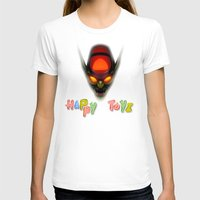 Happy Toyz (Alternate) Womens Fitted Tee White SMALL