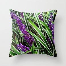 Monkey Grass Throw Pillow