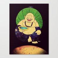 Total Peace Buddha Canvas Print