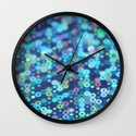 blurry blue dots Wall Clock