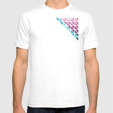 Triangles #7 Mens Fitted Tee SMALL White