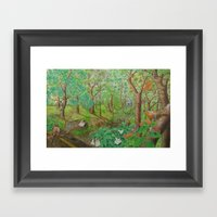A Day Of Forest (1). (wa… Framed Art Print