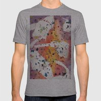 splatter Mens Fitted Tee Athletic Grey SMALL