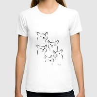 Mate,Friends,French bulldog Womens Fitted Tee White SMALL