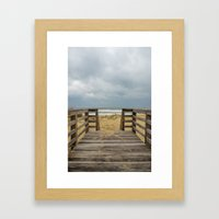 Draw Me Into The Sea Framed Art Print