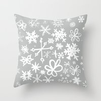Snowflake Concrete Throw Pillow