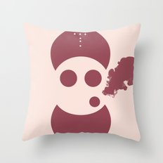 Circles&smoke Throw Pillow