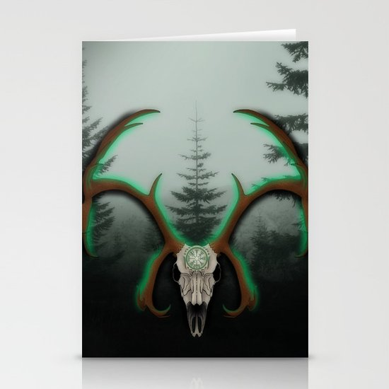 C-1 Horns Stationery Card