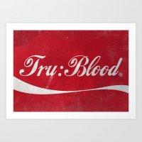 Tru:Blood Art Print
