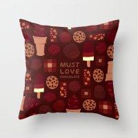 Must Love Chocolate Throw Pillow