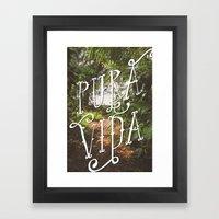 Pura Vida Jungle Framed Art Print
