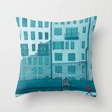 Winter Walk Throw Pillow