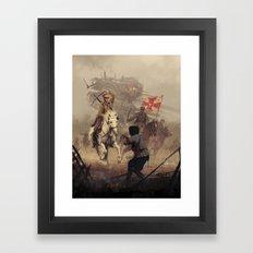 1920 - final charge Framed Art Print