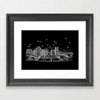 Portland, Oregon City Skyline Framed Art Print