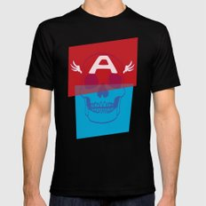 Captain America Black Mens Fitted Tee SMALL
