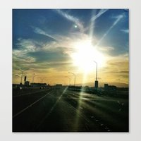 Canvas Print featuring Sun Chaser by atwice