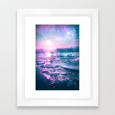 Mystic Waters Vibrant Pink Blue Lavender Framed Art Print