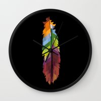 The Patterned Feather Wall Clock