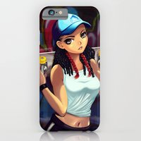 iPhone & iPod Case featuring skater girl by monoguru