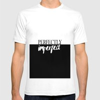 Modern Black White Quote… Mens Fitted Tee White SMALL