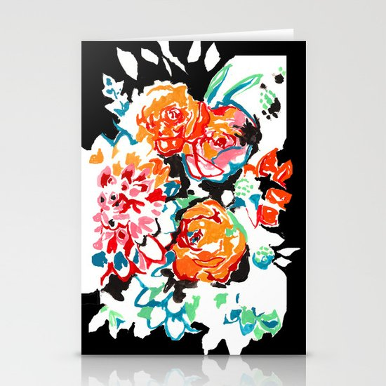 Brush Floral Stationery Card