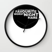 favourite worst nightmare Wall Clock