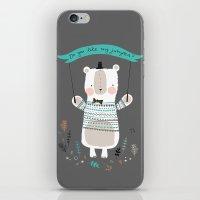 Bear Hug iPhone & iPod Skin