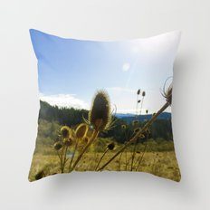 Colorful Winter Day Throw Pillow