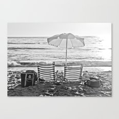 A Relaxing Day At The Beach Canvas Print