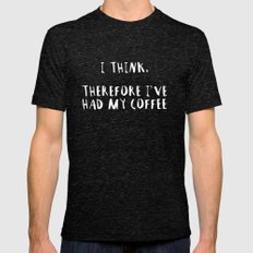 Coffee Mens Fitted Tee Tri-Black SMALL
